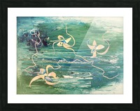water surface abstraction Picture Frame print