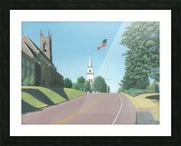 Church Hill Road - Newtown Scenes 12X16 Picture Frame print