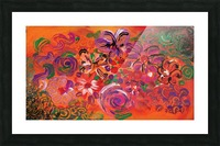 abstract colorful garden Picture Frame print