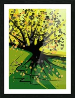 falling leaves Picture Frame print
