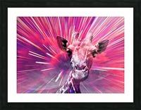 Giraffe pop 5 Picture Frame print