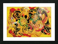 abstract yellow swirls Picture Frame print