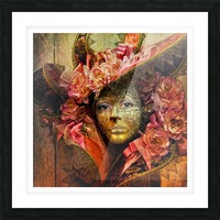 Venetian Mask Picture Frame print