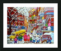 WINTER  WONDERLAND MONTREAL PAINTINGS  Picture Frame print