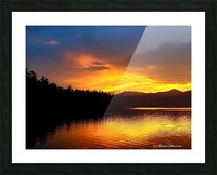 Firey Sunset Picture Frame print
