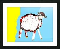 Little Aussie Sheep - Blue Picture Frame print