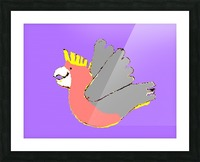 Happy Galah - Purple Picture Frame print