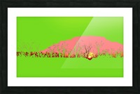 Lake Sunset - Green Picture Frame print