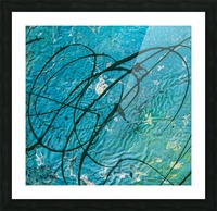 light blue abstract Picture Frame print