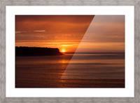 Orange Sunshine Picture Frame print