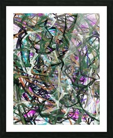 dancingonFire_GreenBlackBlue Picture Frame print