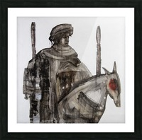Shadow horserider 5 Picture Frame print