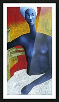 Blue Nude Woman Picture Frame print