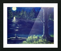 Peaceful Moonlit night Picture Frame print