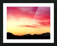 Colorful Dusk Mountain view Picture Frame print