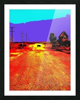 Cows Crossing - Outback Australia Picture Frame print
