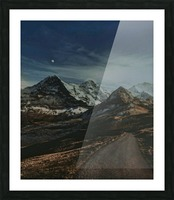 The Long Road Traveled Picture Frame print