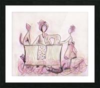 La couturière et ses chats Picture Frame print