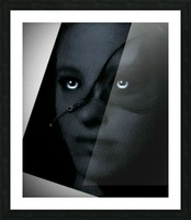 Creative dark Portrait Painting Picture Frame print