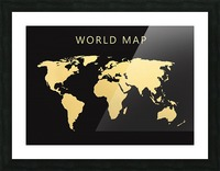 map world 2 Picture Frame print