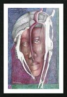 homme au turban Picture Frame print