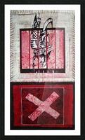 en_noir_et rouge Picture Frame print
