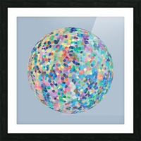 RONDI pastel light blue background Picture Frame print