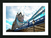 The Might of Tower Bridge Picture Frame print