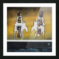 Donkey talk Picture Frame print