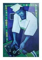 Mozaik bleu Picture Frame print