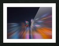 Radial_orangeblue Picture Frame print