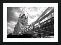The Might of Tower Bridge Black and White Picture Frame print