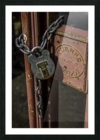 Locked Out Picture Frame print