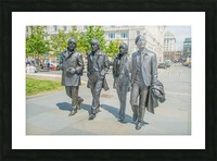 The Beatles Statue Picture Frame print