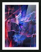 Blue Portrait Picture Frame print