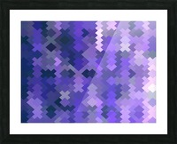 geometric square pixel pattern abstract in purple Picture Frame print