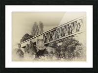 Railway Bridge in B&W Picture Frame print