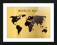 map world 4 Picture Frame print