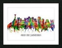 Rio de Janeiro Brazil Skyline Picture Frame print
