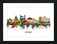 Rome Italy Skyline Picture Frame print
