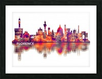 Florence Italy Skyline Picture Frame print