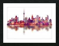 Toronto Canada Skyline Picture Frame print
