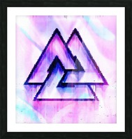 Valknut Light & Colorful Picture Frame print