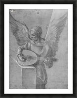 Winged Man In Idealistic Clothing, playing a Lute Picture Frame print