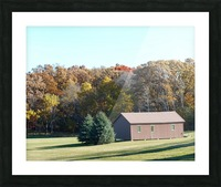 Pole Barn in Fall Picture Frame print