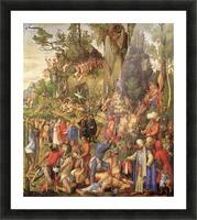 Marter der zehntausend Christen Picture Frame print