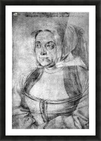 Agnes Durer in Dutch Tracht Picture Frame print