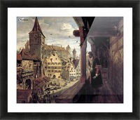 Albrecht Dürer on the Balcony of his House Picture Frame print