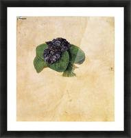 Violet Bouquet Picture Frame print
