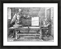 Man drawing a Lute Picture Frame print